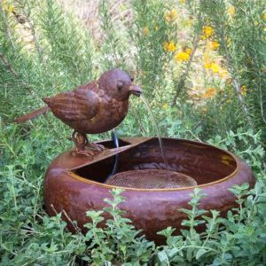 Folk Art Little Bird Fountain