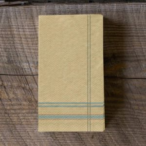 French Stripe Paper Dinner Napkins/Guest Towels Min 12