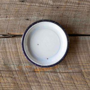 Old Enamelware Dessert Salad Plate