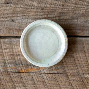 Aged Stoneware Dessert Salad Plate
