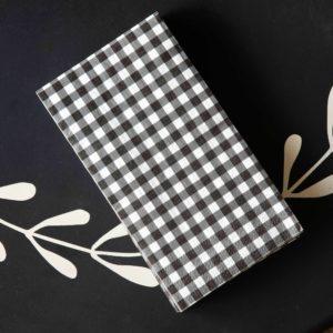 Black & White Gingham Check Napkin Guest Towel