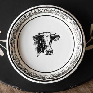Black & White Cow Dinner Plate
