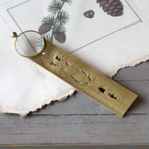 Brass Finish Magnifier Bookmark With Ruler Min 8