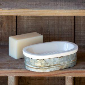 Tinwork & Porcelain Soap Dish Min 4