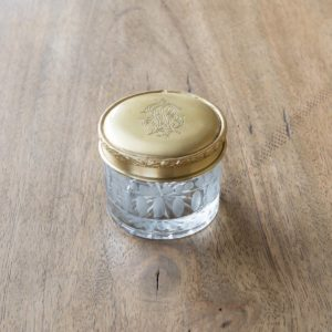 Antique Brass And Glass Cosmetic Jar Min 2