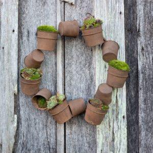 Rusty Bucket Wreath