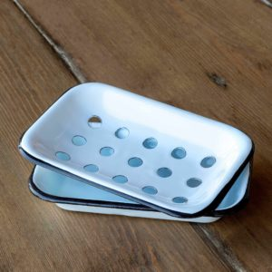 Farmhouse Enamelware Soap Dish