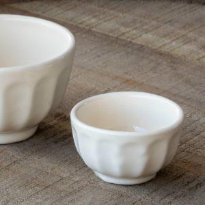 "Creamware Vintage Style Bowl, 2.5"" Min 12"