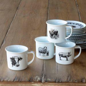 Barnyard Ceramic Coffee Mug 4 asst Styles