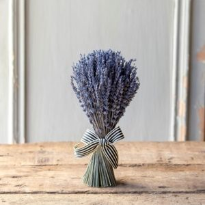 Dried Lavender Hanging Bundle with Ribbon