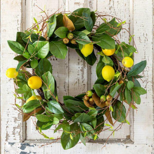 Lemon & Magnolia Leaf Wreath Min 2