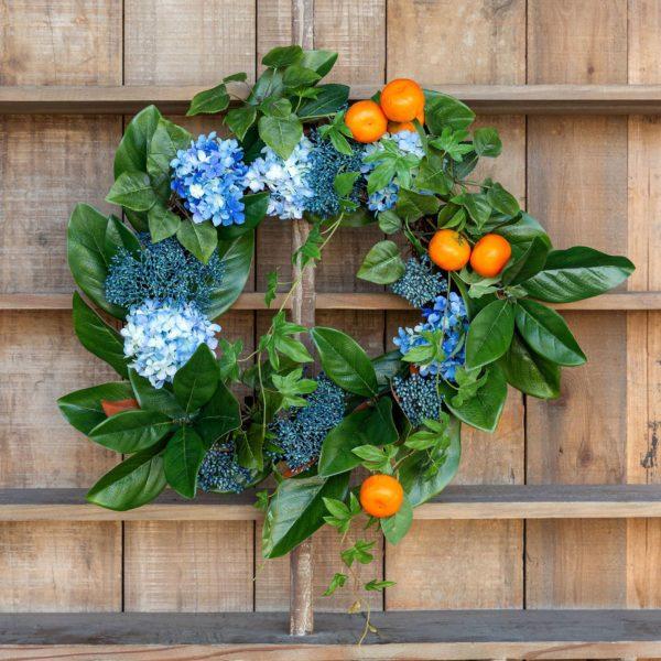 Summer Citrus & Hydrangea Wreath Min 2