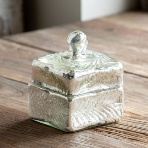 Glass Antique Etched Canister Min 4