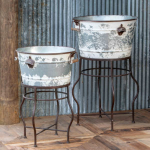 Beverage Tubs on Stand Set of 2