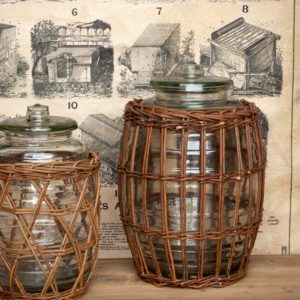 Extra Large Willow Wrapped Storage Jar