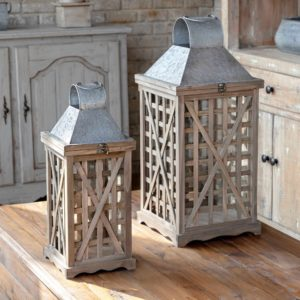 Tobacco Barn Lanterns Set of 2