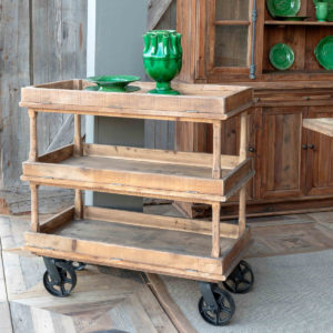 Wooden Bakery Cart