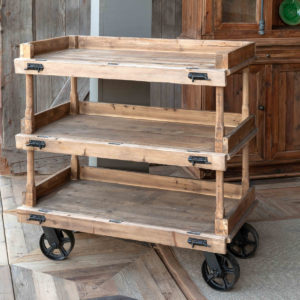 Wooden Bakery Cart