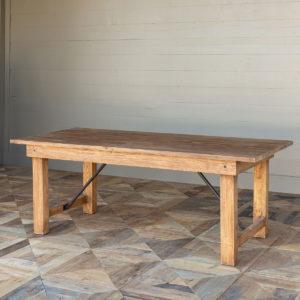 Farm Table with Folding Legs