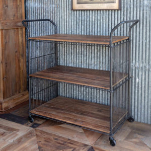 Reclaimed Wood & Metal Kitchen Cart