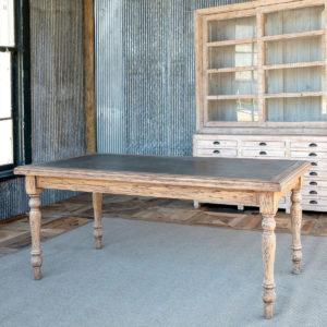 Zinc Topped Olm Elm Farm Table