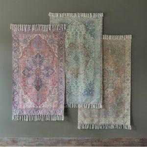 Cotton Printed Rug, Cayenne