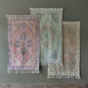 Cotton Printed Rug, Nutmeg