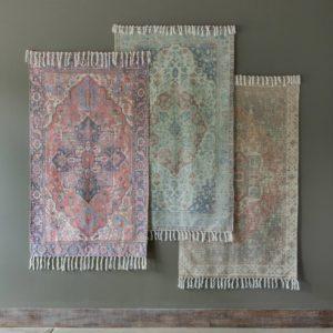 Cotton Printed Rug, Tamarind
