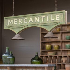 Mercantile Hanging Sign Light Fixture