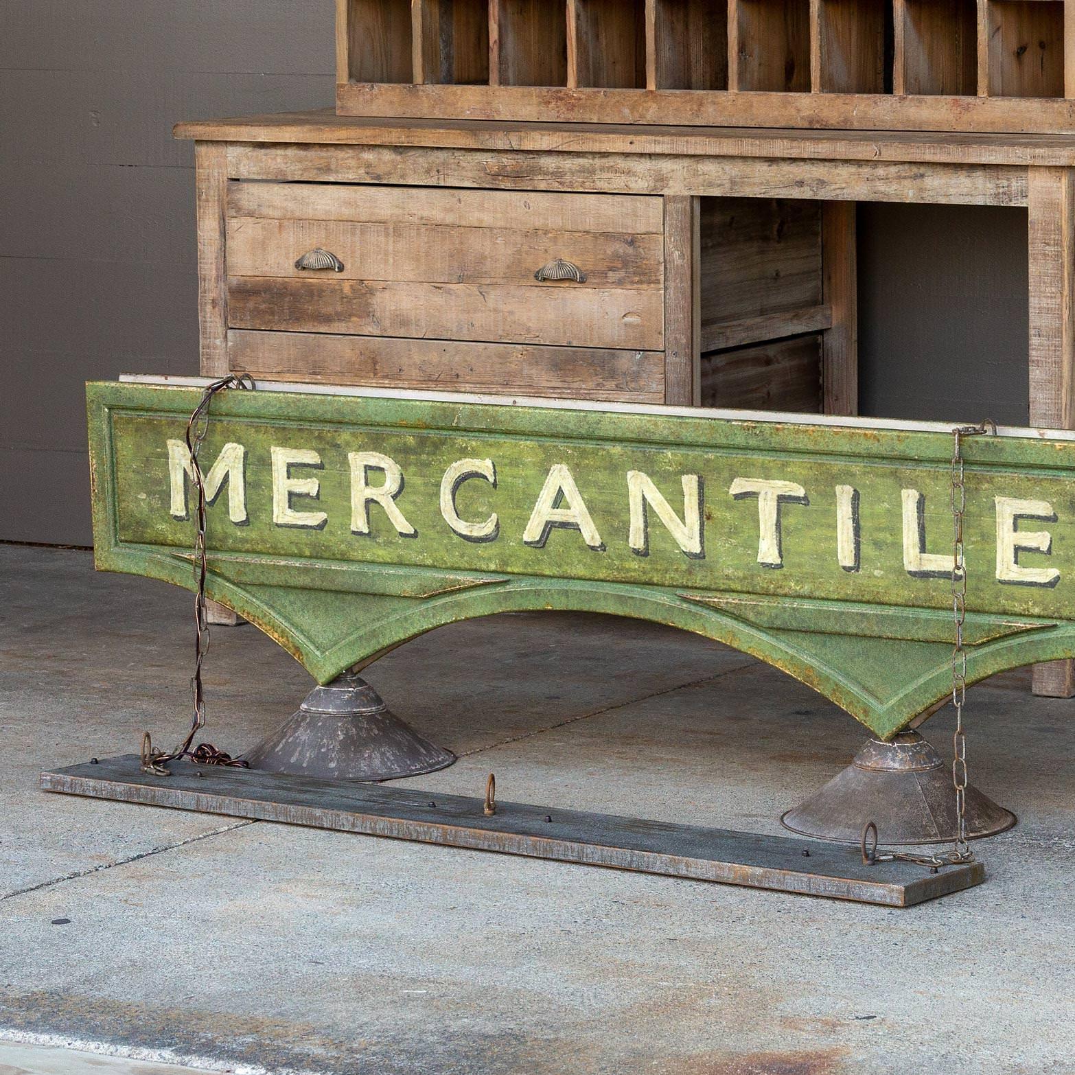 Mercantile Hanging Sign Light Fixture