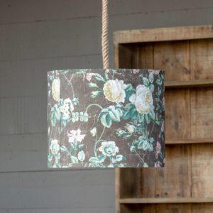 Vintage Rose Paper Shade Pendant Light Min 2