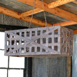 Tobacco Basket Light Fixture