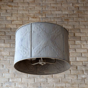 Embossed Window Screen Pendant Light
