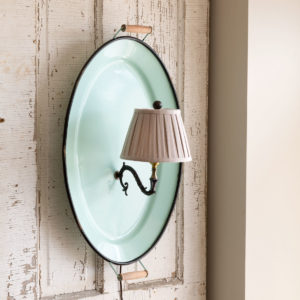 Enamel Tray Wall Sconce