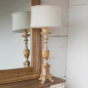 Old World Candlestick Lamp