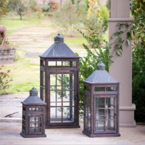 Transom Window Lanterns, Set of 3