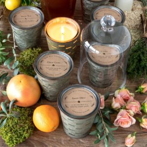 Peach Orchard, Olive Bucket Candle Min 6