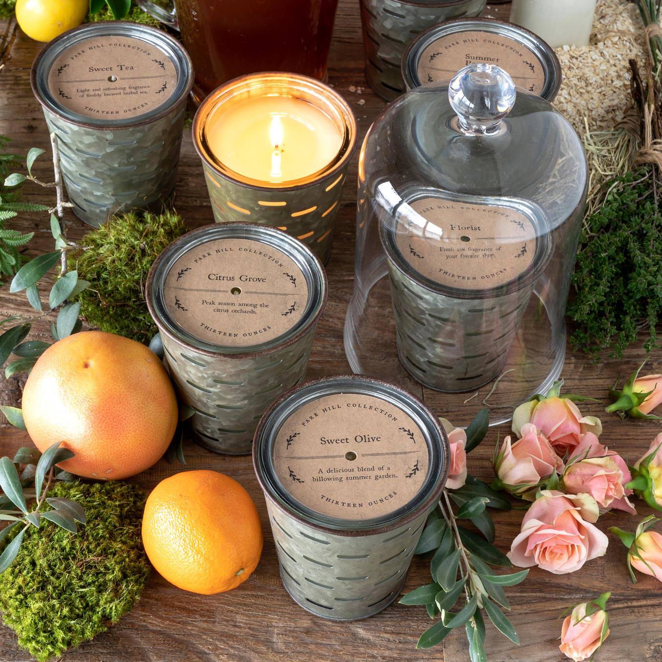 Roastery Cafe, Olive Bucket Candle Min 6