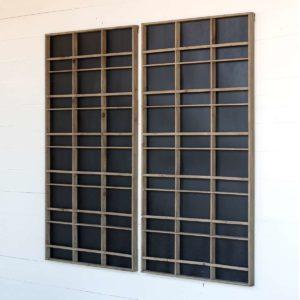 Wall Display Unit With Blackboard  Backing Min 2