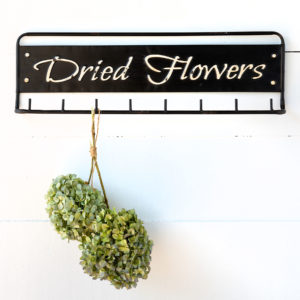 """Dried Flowers"" Metal Hanging Rack Min 4"