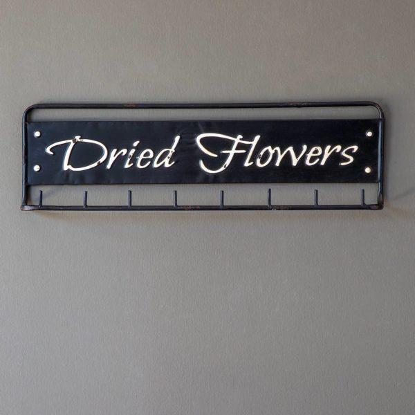 """""""Dried Flowers"""" Metal Hanging Rack Min 4"""