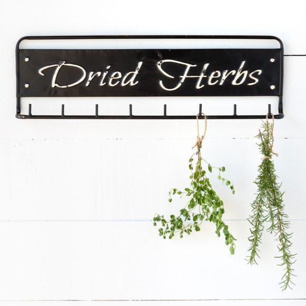 """""""Dried Herbs"""" Metal Hanging Rack Min 4"""