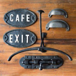 Cast Iron Exit Plaque Min 6