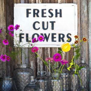 Metal Flower Sign