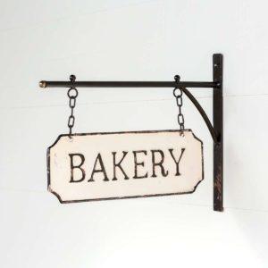 Metal Bakery Sign with Hanging Display Bar Min 2