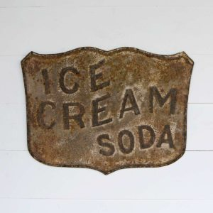 Embossed Metal Ice Cream Soda Sign Min 4