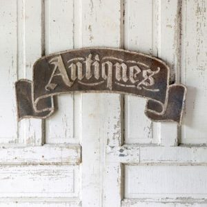 Metal Antique Sign Banner