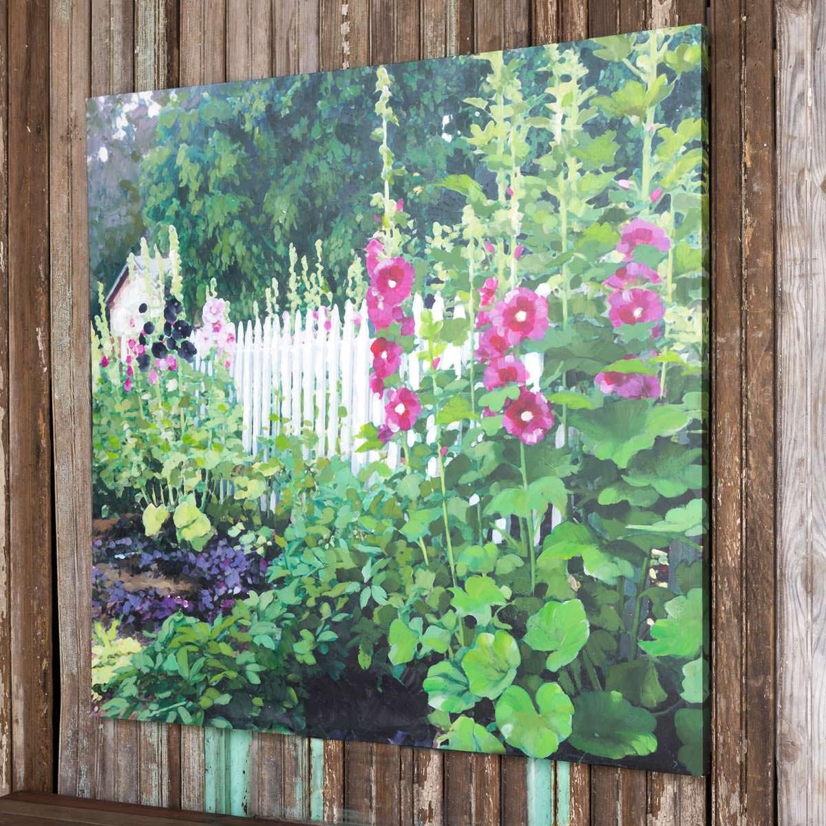 Hollyhock Garden Giclee