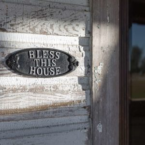 Cast Iron Bless This House Plaque Min 4