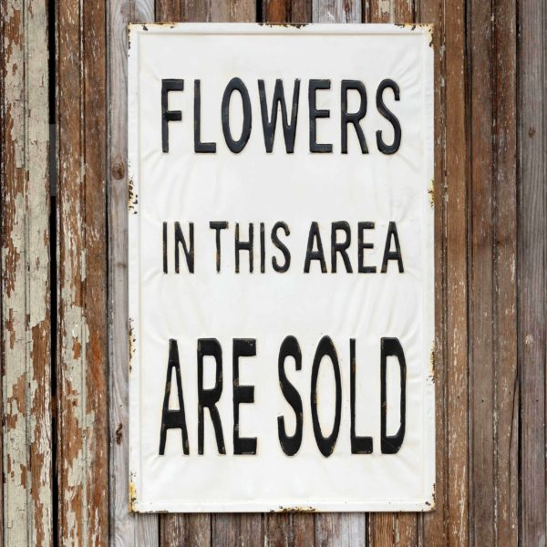 Sold Flowers Sign